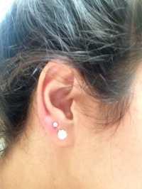 2nd hole ear piercing ... Still a little red. - Yelp