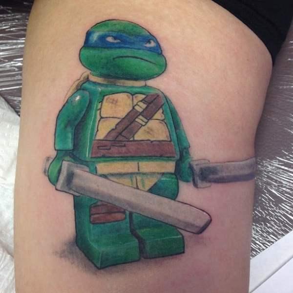Tennage Mutant Ninja Turtle Lego Tattoo Yelp