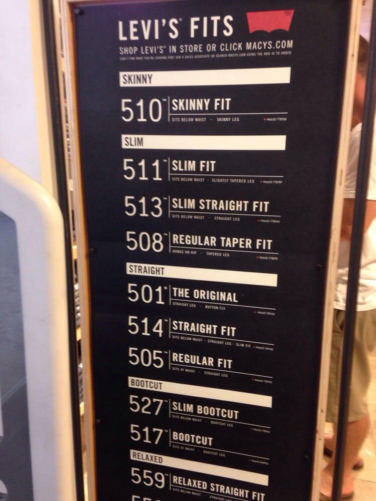 9 Digit Levi Jeans Code Chart Color