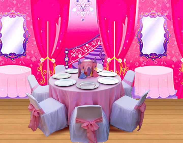 chair covers rental near me cover lansing mi princess theme birthday party table set up decoration ideas, centerpieces, supplies, kids ...