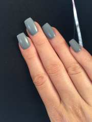 coffin-style acrylic with matte