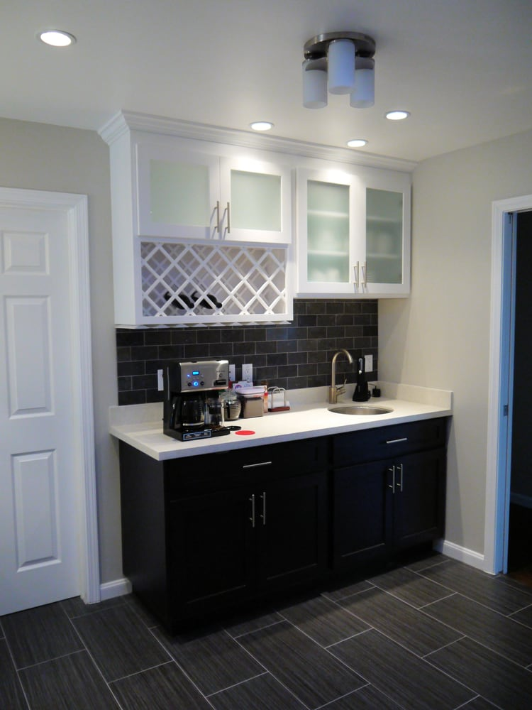 Wet Bar Cabinets and Counter Top  Yelp