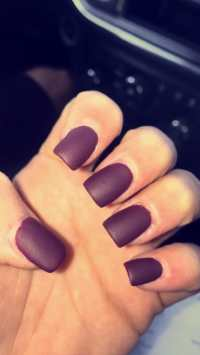 Maroon And Black Matte Nails Pictures to Pin on Pinterest ...
