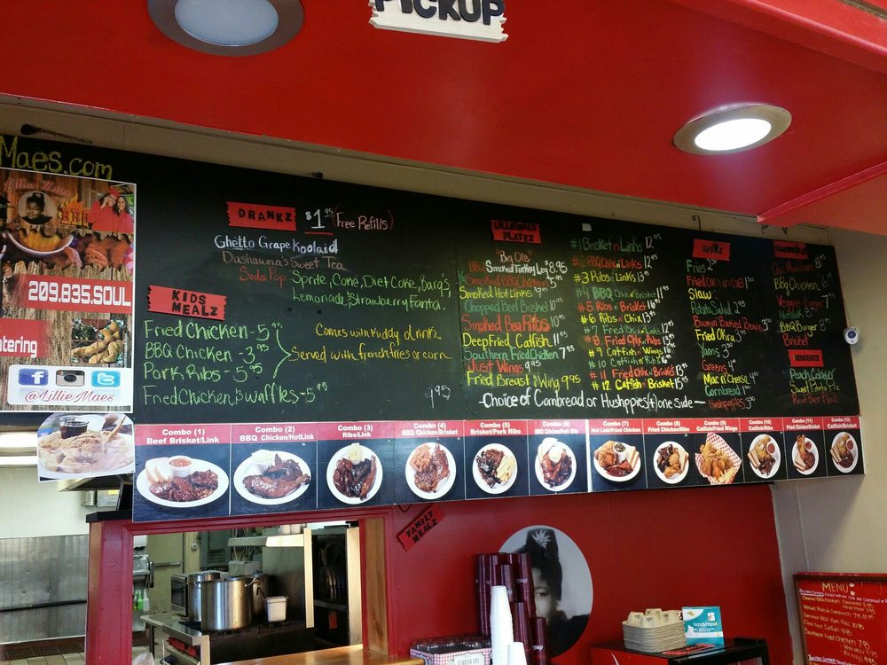House Soul Food Menu
