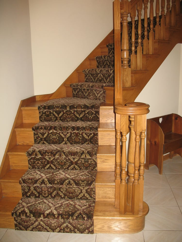 Dramatic waterfall installation of stair runner  Yelp