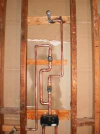 Shower valve w/ diverter & body sprays, rough