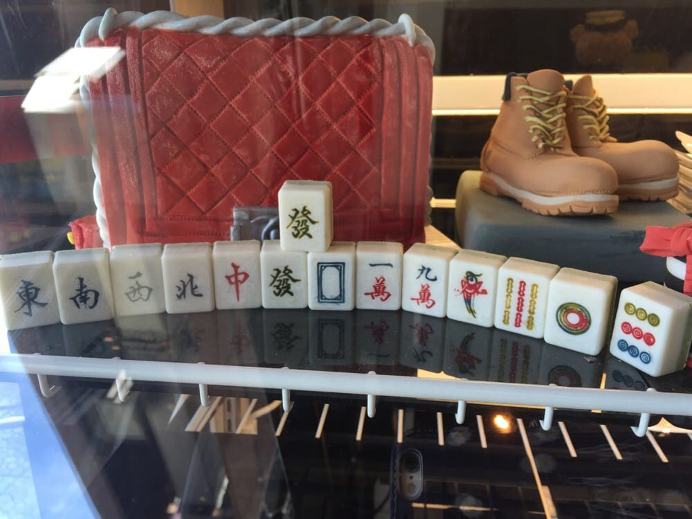 Ganache Patisserie & Cafe By Nicol - Monterey Park, CA, United States. Mahjong white chocolate set (ok so awesome)