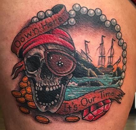 Goonies Ship Tattoo