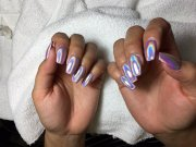 pink holographic nails - yelp