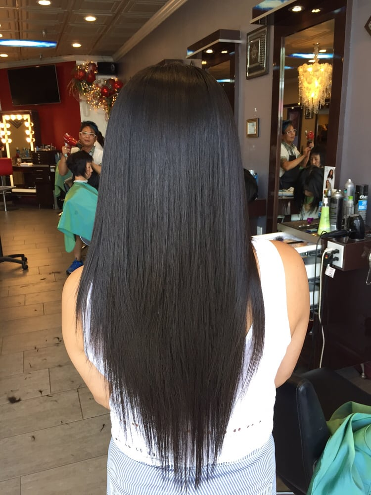 V Cut With Long Layers Length Kept And Dead Ends Gone