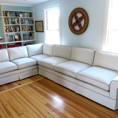 Sunbrella Fabric Sectional Sofas Pictures Of Living Rooms With Grey Leather Four Piece Sofa In A And Contrasting Photo Cape Cod Upholstery Shop South Dennis Ma United States