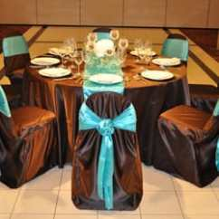 Teal Chair Covers Dining Accessories Md Decor 10 Reviews Party Supplies 440 E Montrose Photo Of Wood Dale Il United States Chocolate