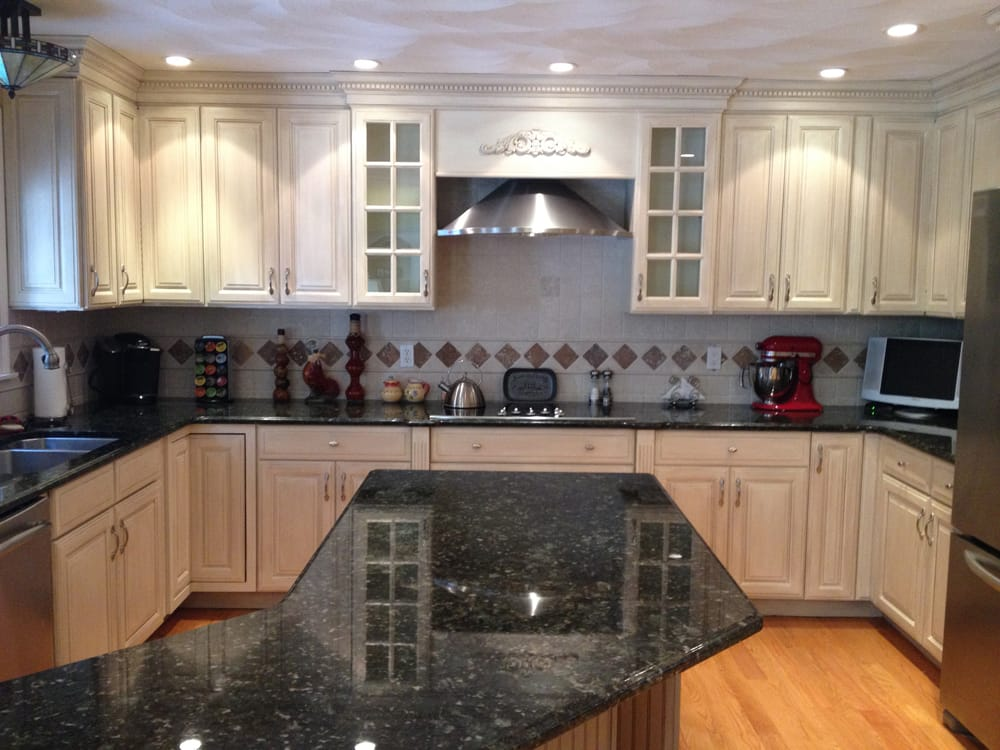 Glazed Kitchen Cabinets In General Finishes Antique White Milk Paint