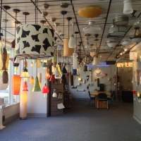 Our showroom displays various pendants, wall sconces and ...