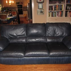 brown leather sofa color restoration how to dress a with throws and cushions precision 21 photos furniture reupholstery photo of dallas tx united states after full