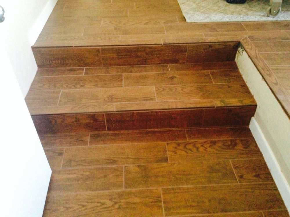 Wood Plank Tile Steps
