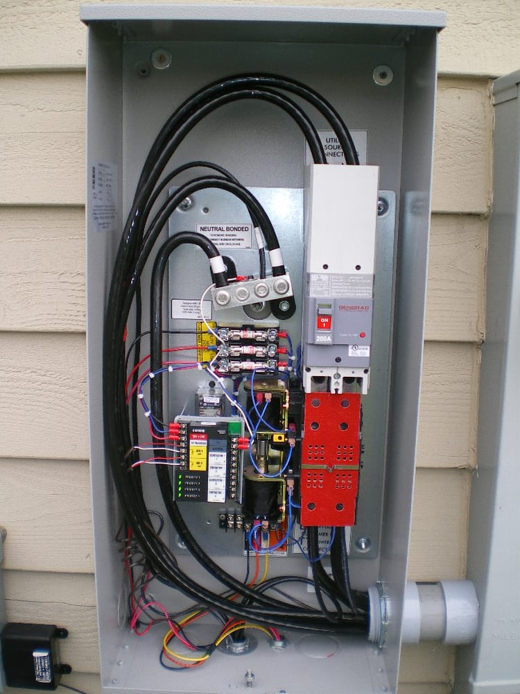 generac generator transfer switch wiring diagram dual starter 200a automatic | yelp