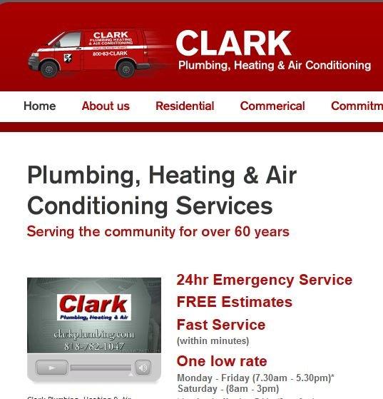 Clark Plumbing Heating  Air Conditioning  24 Reviews