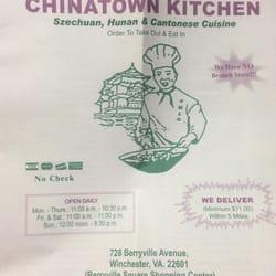 Chinatown Kitchen  Chinese  728 Berryville Ave