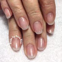Natural looking acrylic nails. Pink and natural acrylic ...