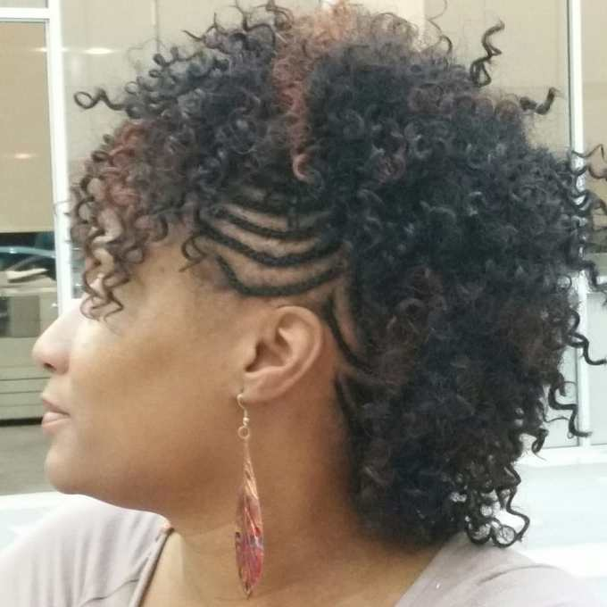 braided mohawk with sew-in weave. - yelp