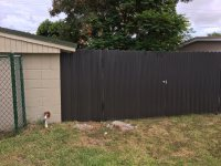 Dura fence double gate with deadbolt lock!! Awesome - Yelp