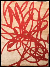 """Contemporary silk and wool rug """"Scribble"""" - Yelp"""