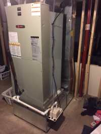 Trane Electric furnace, return ducting, & condensation ...