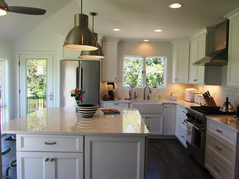 Beautiful kitchen remodel in Middletown MD with white cabinets A designbuild remodeling