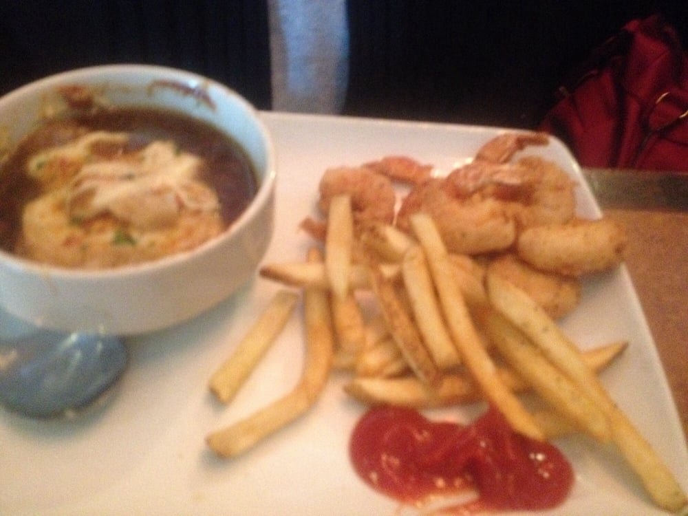 Lunch pairings. $8.99...French onion soup. hand-battered shrimp. and fries. - Yelp