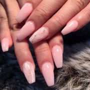 baby pink marble nails. thenailsplaza