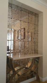 antique mirror tiles with bevel and rosettes - Yelp