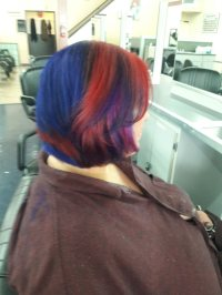 Hair color done by a student at Hilltop Beauty School ...