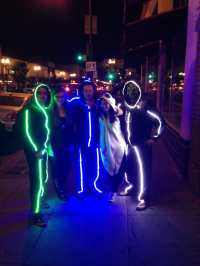 LED light stick figure costumes!!!