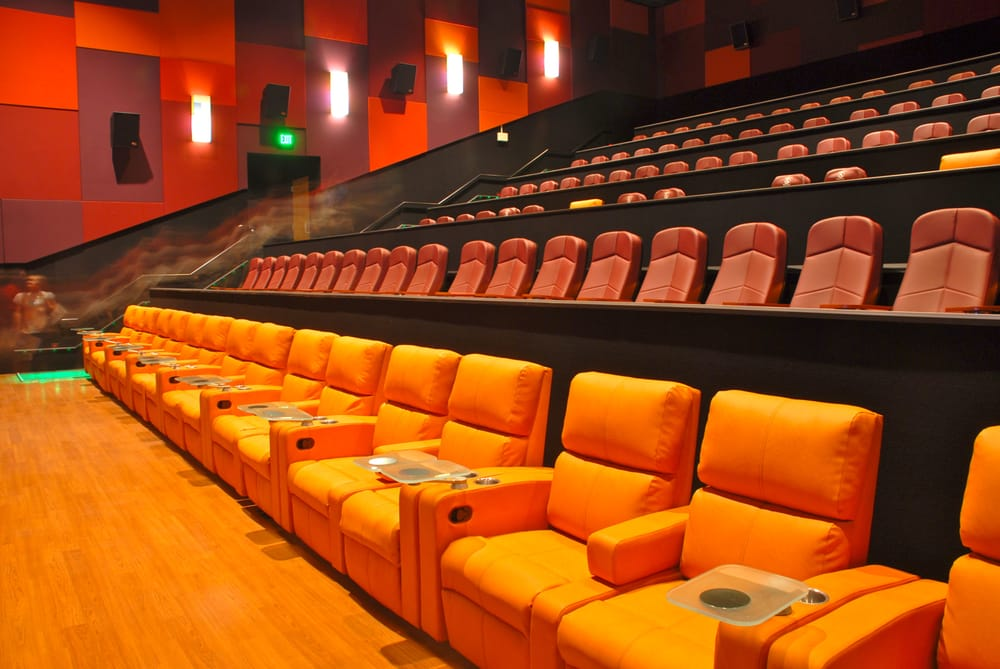 The best seat in the house in the living room theaters They recline  Yelp