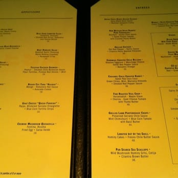 Mesa Grill  Dinner Menu  Las Vegas NV United States