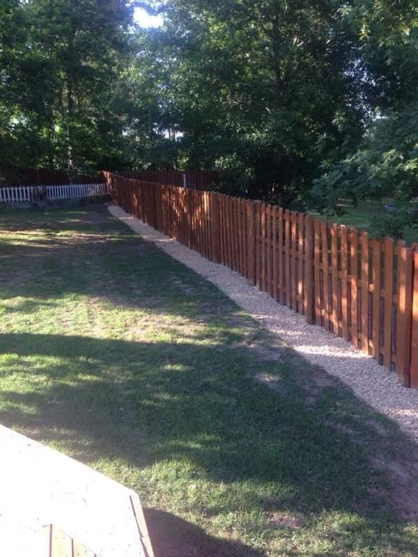 gravel fence line