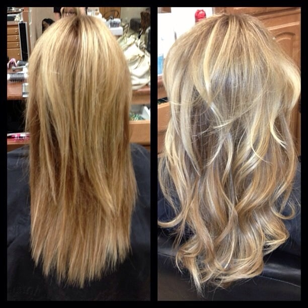 Before And After Tape In Hotheads Hair Extensions