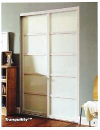 Tranquility Mirror Doors with Dividers, White Finish - Yelp