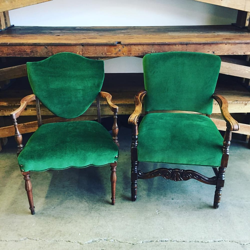 Green Upholstered Chair Beautiful Emerald Green Velvet Armchairs Duc Upholstered The