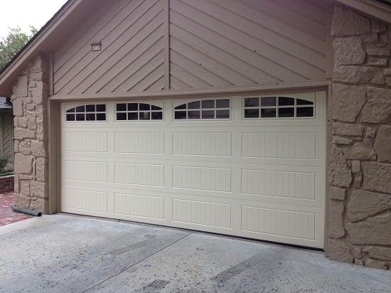 16x7 doorLink mfg 3640 in desert tan color with stockton arch windows  Yelp