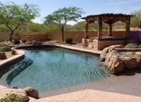 Beautiful Rock Swimming Pool and Spa backyard oasis! - Yelp