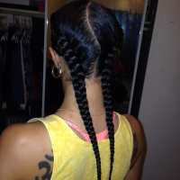 French braids with hair added. Beautiful and fast!!!