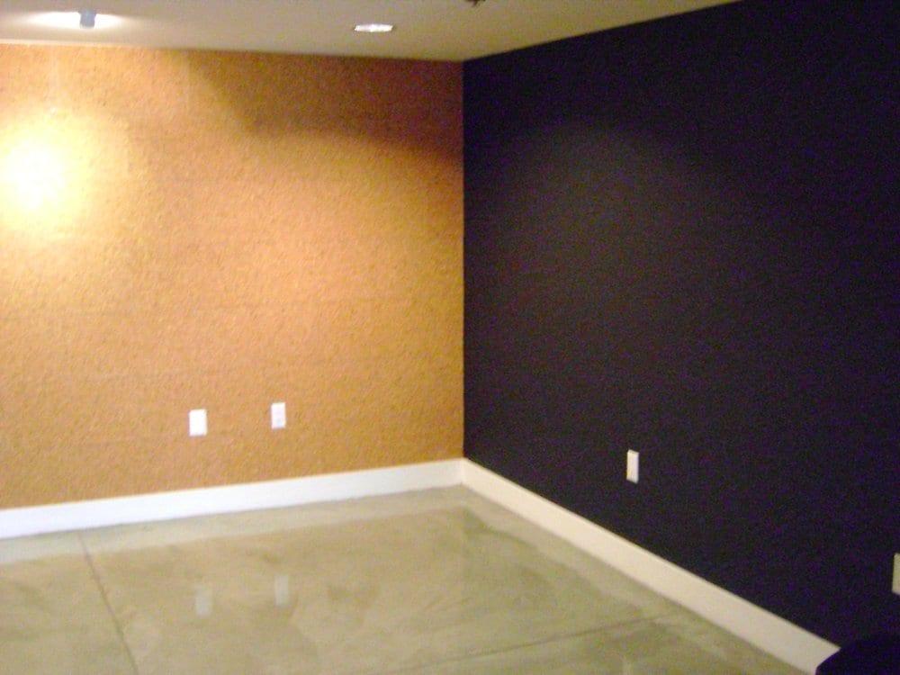 Corkboard wall and magnetic blackboard wall!