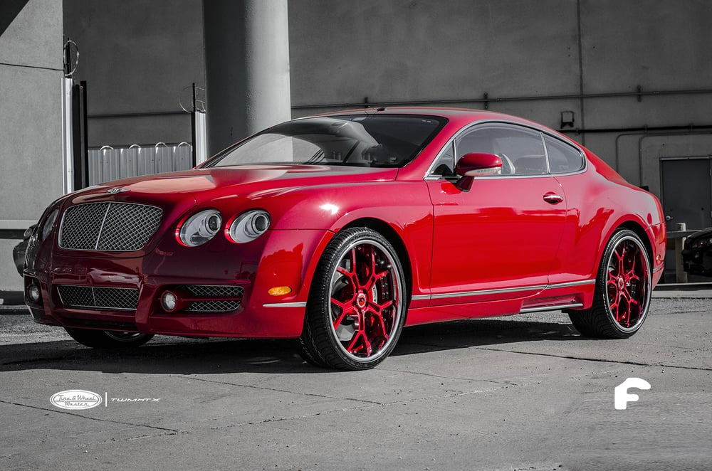 Red Bentley GT Coupe with Custom Painted Red  Chrome Lip Forgiato Wheels  Yelp