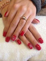 christmas gel nail design. - yelp
