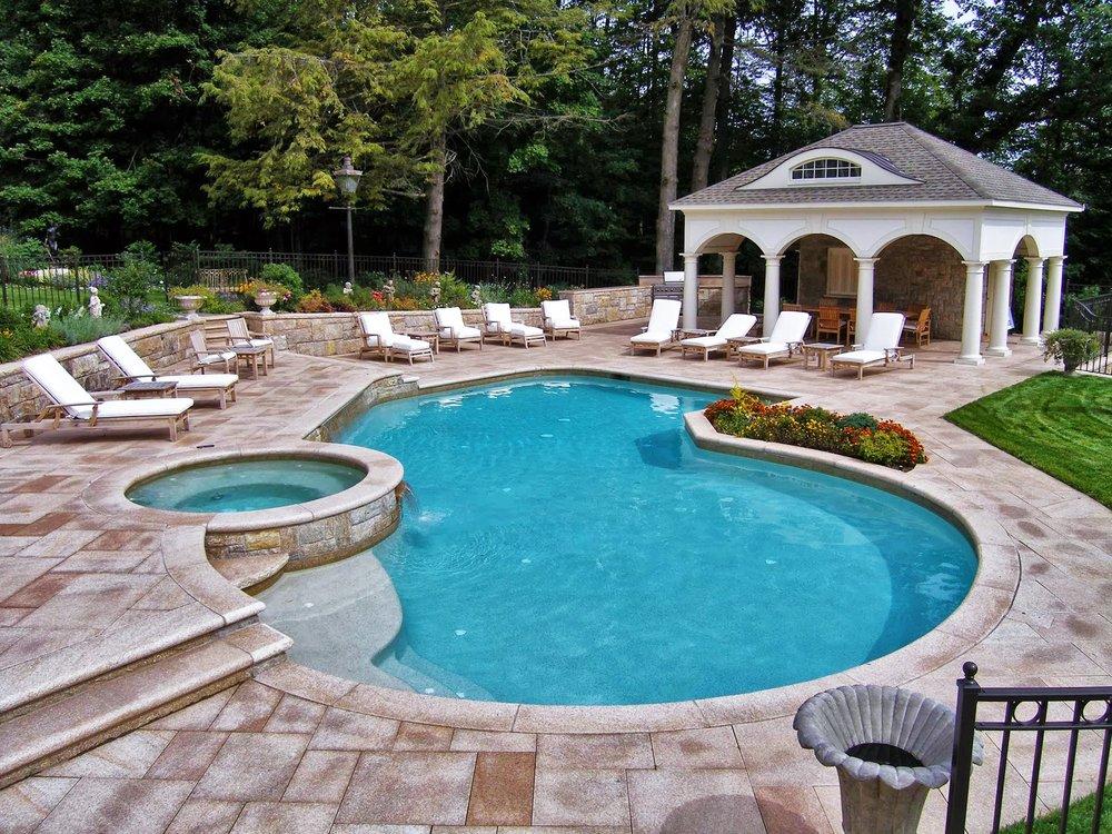 Custom pool by Aqua Pool  Patio  Yelp