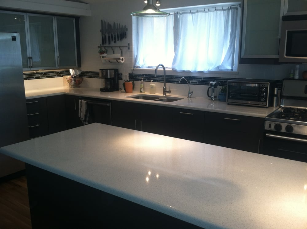 ikea kitchen countertops chairs with arms white quartz subway tile and glass photo of integrity installations golden co united states