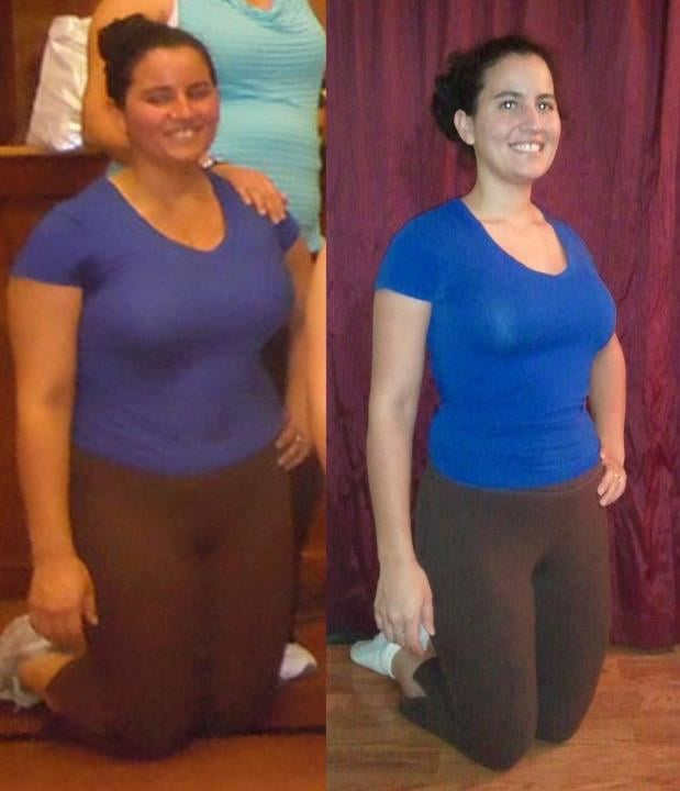 before and after picture what one year of taking teaching zumba
