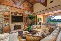 Living Room Design in Rancho Santa Fe - Wood Beams ...